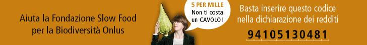 5x1000 - Fondazione Slow Food